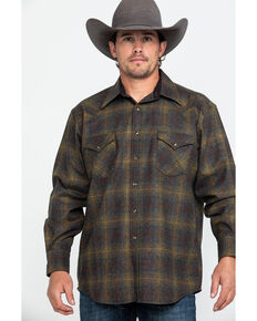 Pendleton Men's Canyon Ombre Plaid Long Sleeve Flannel Shirt , Bronze, hi-res