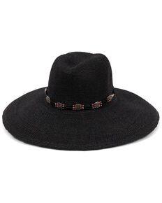 'ale by Alessandra Women's Larimar Wide Brim Fedora, Black, hi-res