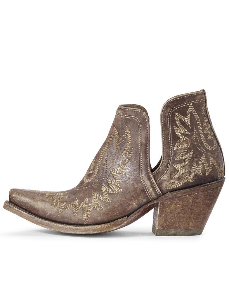 Ariat Women's Dixon Distressed Fashion Booties - Snip Toe, Brown, hi-res