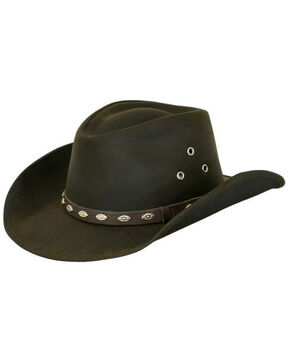 Outback Trading Co. Oilskin Badlands Hat, Brown, hi-res