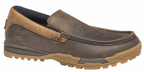 5.11 Tactical Men's Pursuit Slip-On Shoes, Dark Brown, hi-res