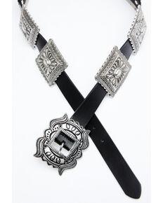 Shyanne Women's Concho Belt, Black, hi-res