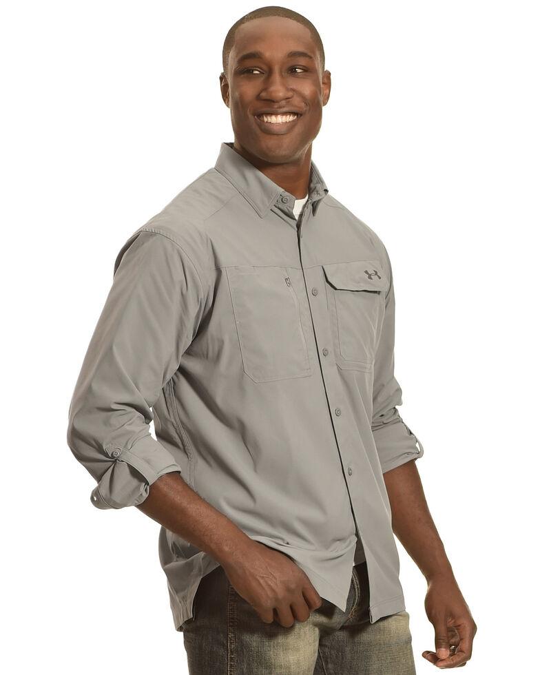 Under Armour Men's Fish Hunter Long Sleeve Shirt , Steel, hi-res