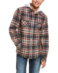 Ariat Boys' Kemper Flannel Hoodie Jacket , Multi, hi-res
