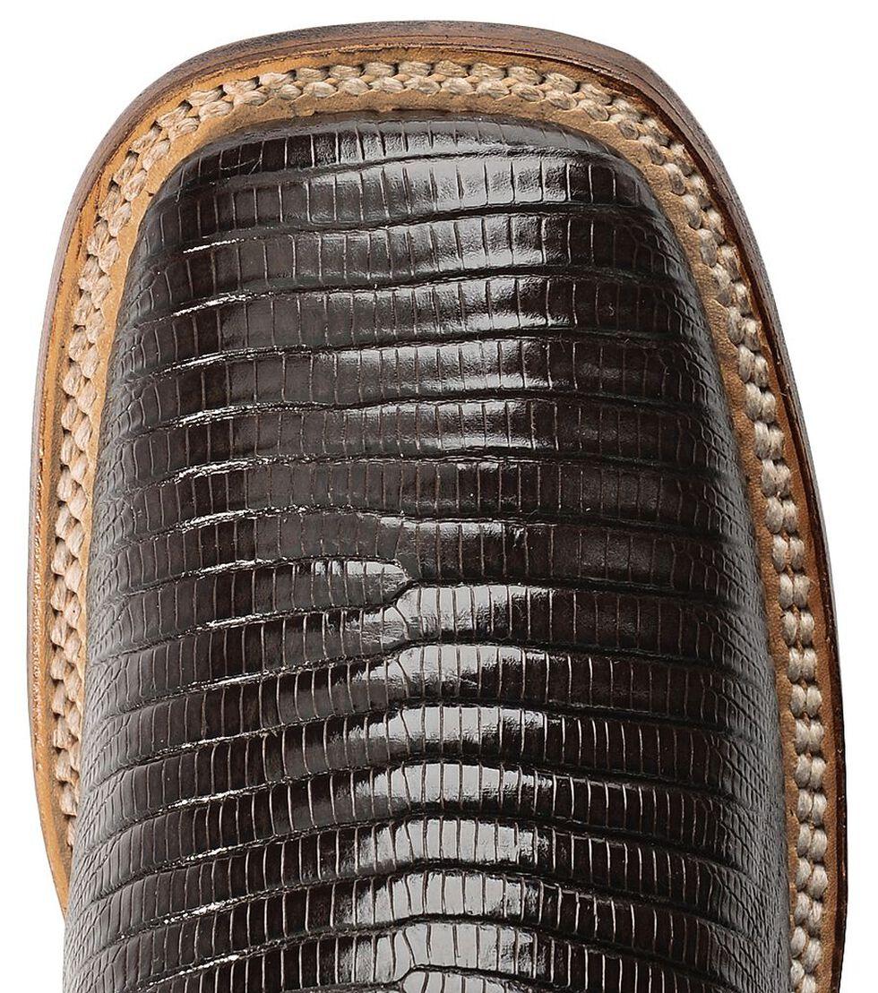 Ferrini Teju Lizard Cowgirl Boots - Wide Square Toe, Chocolate, hi-res