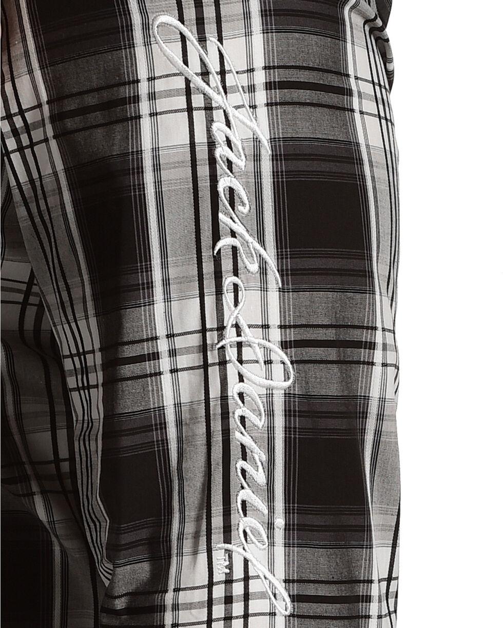 Jack Daniel's Men's Logo Plaid Long Sleeve Shirt, Black, hi-res