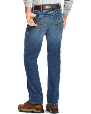 Ariat Men's FR M3 Stitched Incline Loose Fit Jeans - Straight Leg, Blue, hi-res