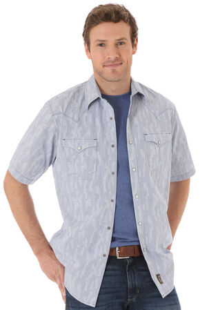 Wrangler Men's Multi Top Stitching Plaid Short Sleeve Shirt, Multi, hi-res