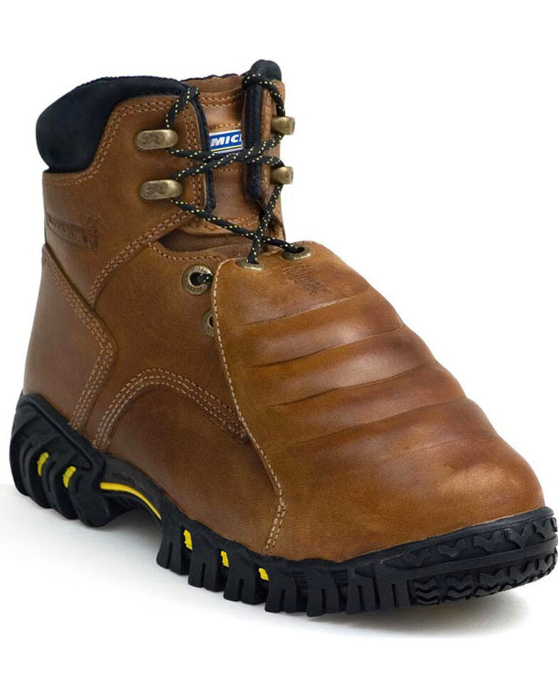 "Michelin Men's 8"" Sledge Metatarsal Work Boots - Steel Toe , Brown, hi-res"