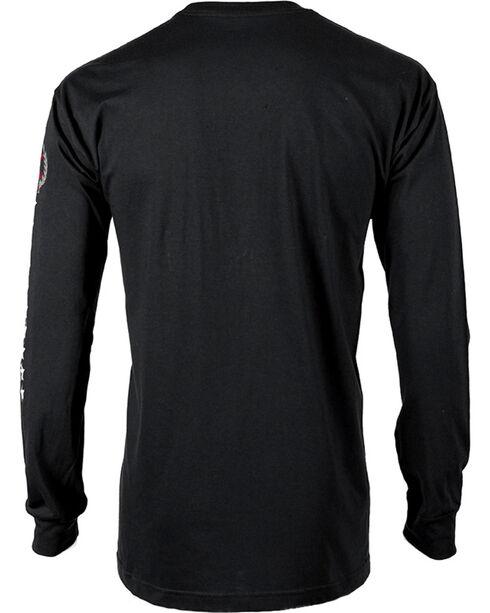 American Worker Men's Logo Long Sleeve Tee, Black, hi-res
