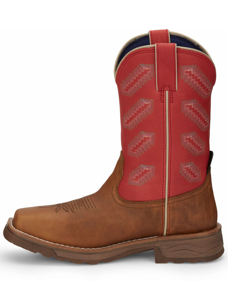 Tony Lama Men's Energy Waterproof Western Work Boots - Composite Toe, Brown, hi-res