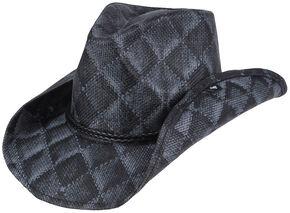 Peter Grimm Arlie Quilted Cowboy Hat, Black, hi-res