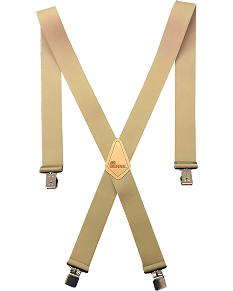 """Berne Men's 2"""" Industrial Suspenders , Beige/khaki, hi-res"""