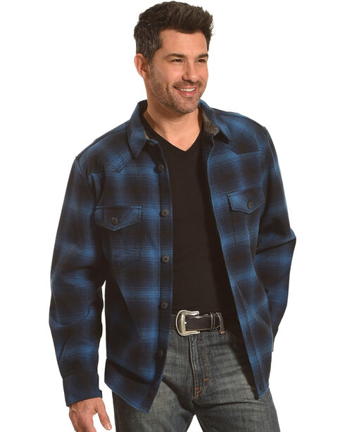 Cody James Men's Valkyrie Plaid Fleece Lined Flannel, Navy, hi-res