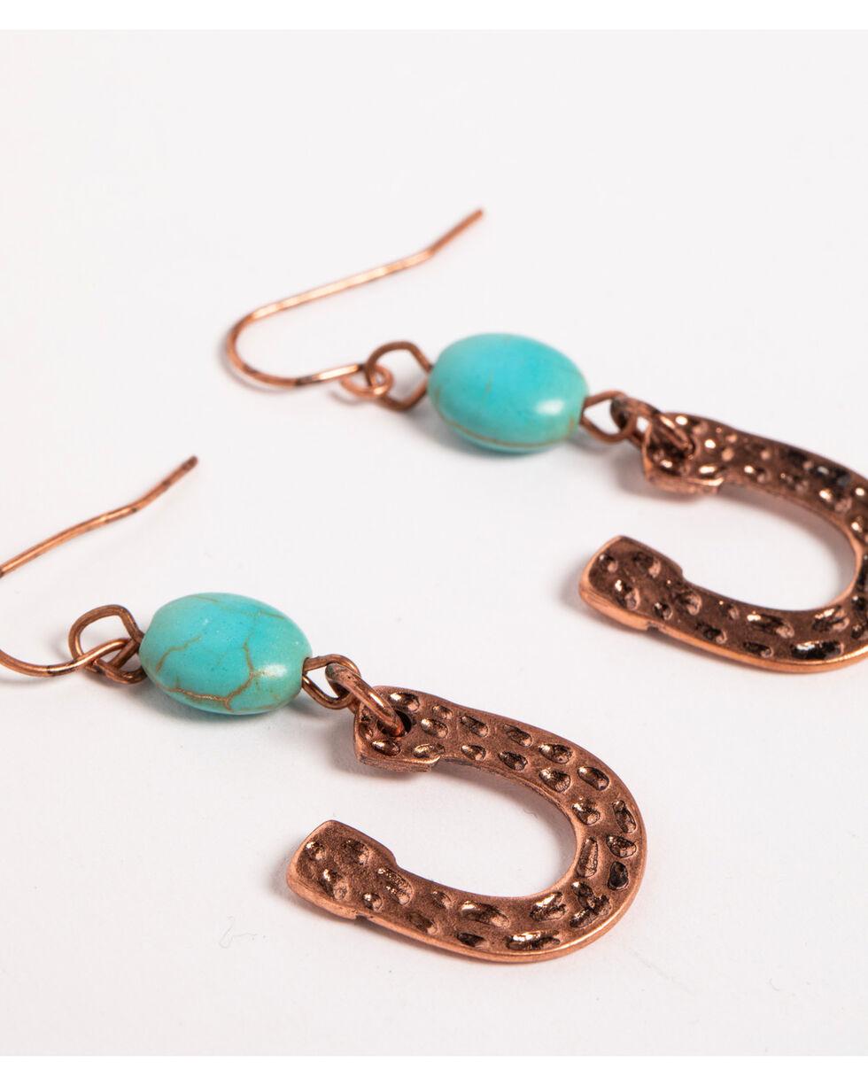 Shyanne Women's Horseshoe Dangle Earrings, Silver, hi-res