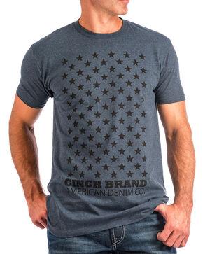 Cinch Men's Navy Star Print Short Sleeve Tee , Navy, hi-res