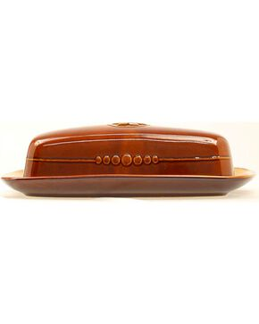 Western Moments Silverado Butter Dish, Brown, hi-res