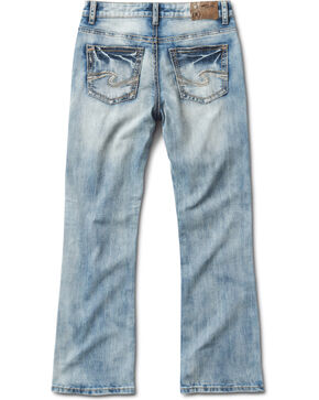 Silver Jeans Boys' Zane Faded Medium Wash Boot Cut Jeans, Indigo, hi-res