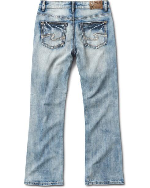Silver Jeans Boys' Zane Faded Medium Wash Boot Cut Jeans, Indigo, hi-res