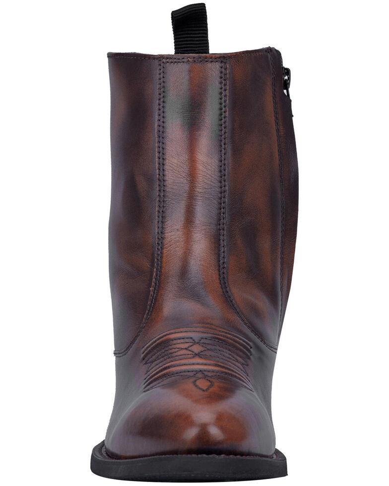 Laredo Men's Antique Tan Side Zipper Western Boots - Round Toe, Tan, hi-res