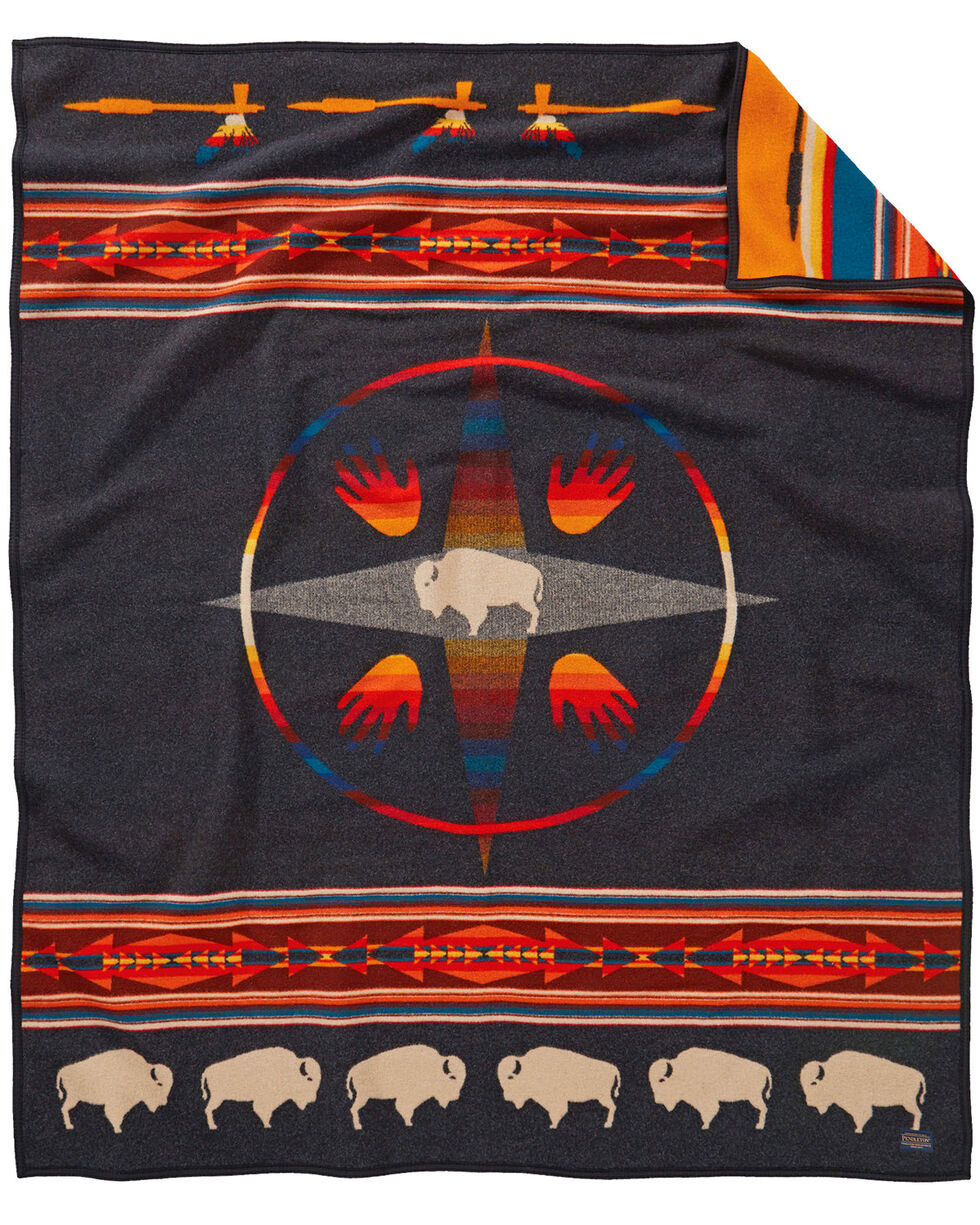 Pendleton Big Medicine Robe Blanket , Black, hi-res