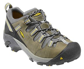 Keen Men's Detroit Low ESD Shoes, Green, hi-res