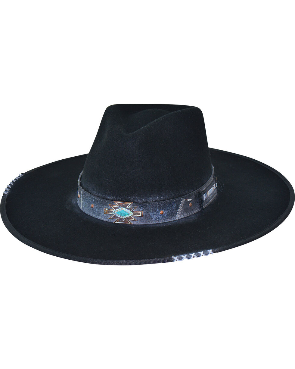 Bullhide Messed Up Wool Cowboy Hat , Black, hi-res
