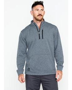 Hawx® Men's Solid 1/4 Zip Work Pullover , Charcoal, hi-res