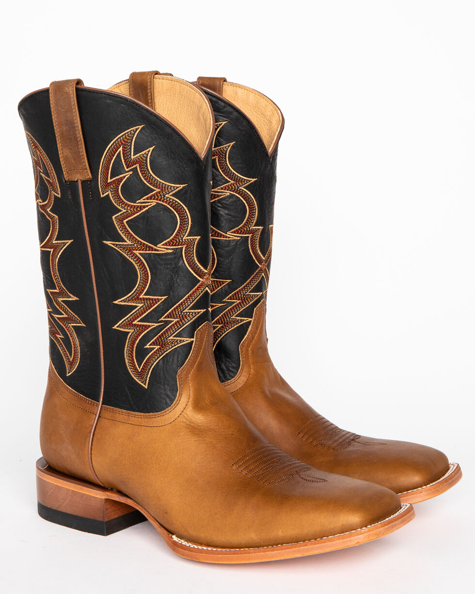 Cody James Men's Embroidered Western Boots - Wide Square Toe, Brown, hi-res