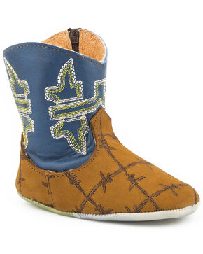Tin Haul Infant Girls' Barbed Wire Boots, Tan, hi-res