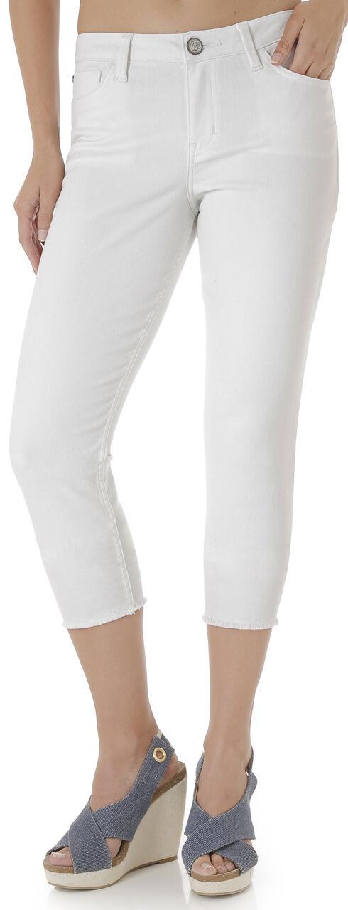 Wrangler Retro® Women's White Crop Jeans - Mid Rise, White, hi-res