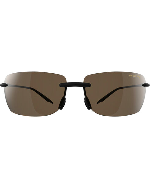Bex Men's Jaxyn III Polarized Black/Brown Sunglasses, Brown, hi-res