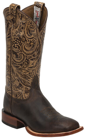 Tony Lama Brown Saigets Cowgirl Boots - Square Toe, Brown, hi-res