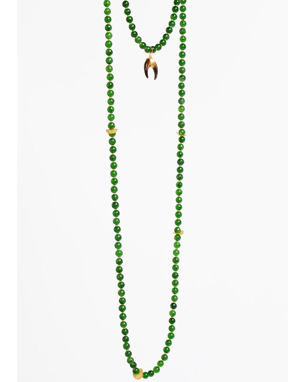 Everlasting Joy Jewelry Women's Green Cross Timbers Necklace , Green, hi-res