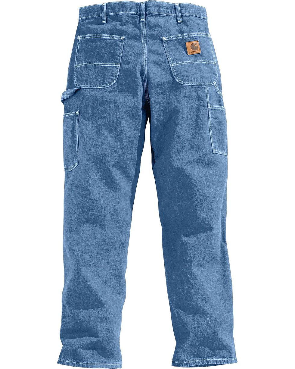 Carhartt Washed Denim Original Fit Work Dungaree Jeans, Stonewash, hi-res