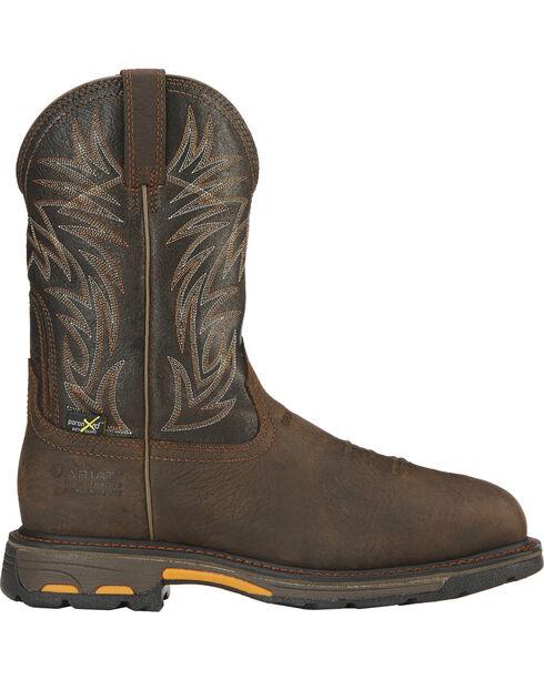 Ariat Men's Workhog Waterproof Western Work Boots - Composite Toe, Brown, hi-res