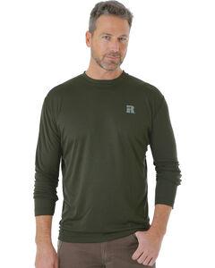 Wrangler Men's Green Riggs Crew Performance Long Sleeve T-Shirt - Big and Tall, Green, hi-res