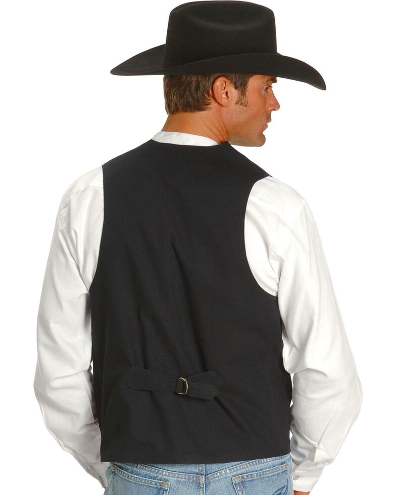 Rangewear by Scully Frontier Canvas Vest, Black, hi-res