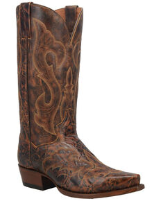 Dan Post Men's Falco Western Boots - Snip Toe, Brown, hi-res