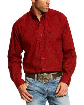 Ariat Men's Ruby Camero Print Shirt , Ruby, hi-res