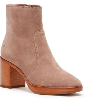 Frye Women's Dusty Rose Joan Campus Short Boots - Round Toe, Light/pastel Pink, hi-res
