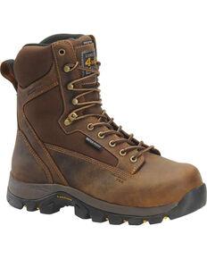 "Carolina Men's 8"" Waterproof Insulated 4x4 Work Boots - Comp Toe, Brown, hi-res"