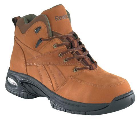 Reebok Women's Tyak Hiking Work Boots - Composite Toe, Tan, hi-res