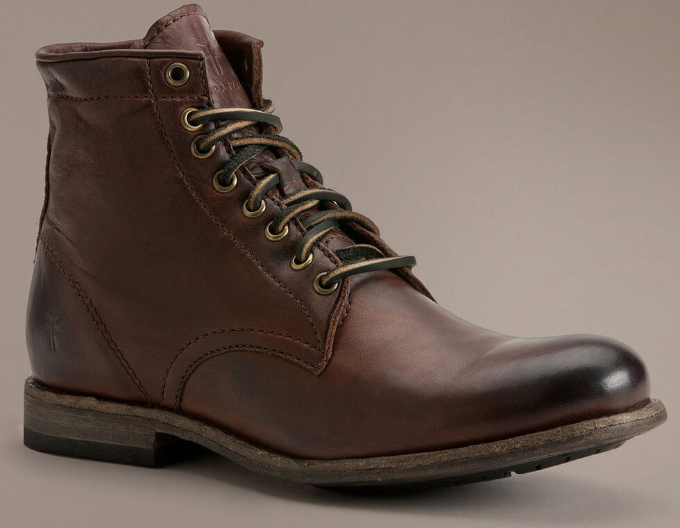 Frye Tyler Lace-Up Boots, Dark Brown, hi-res