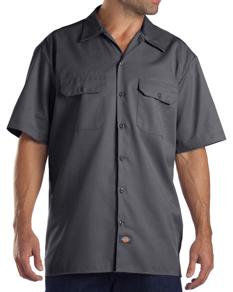 5d7cc8a0e3 Dickies Men s Charcoal Flex Twill Work Shirt