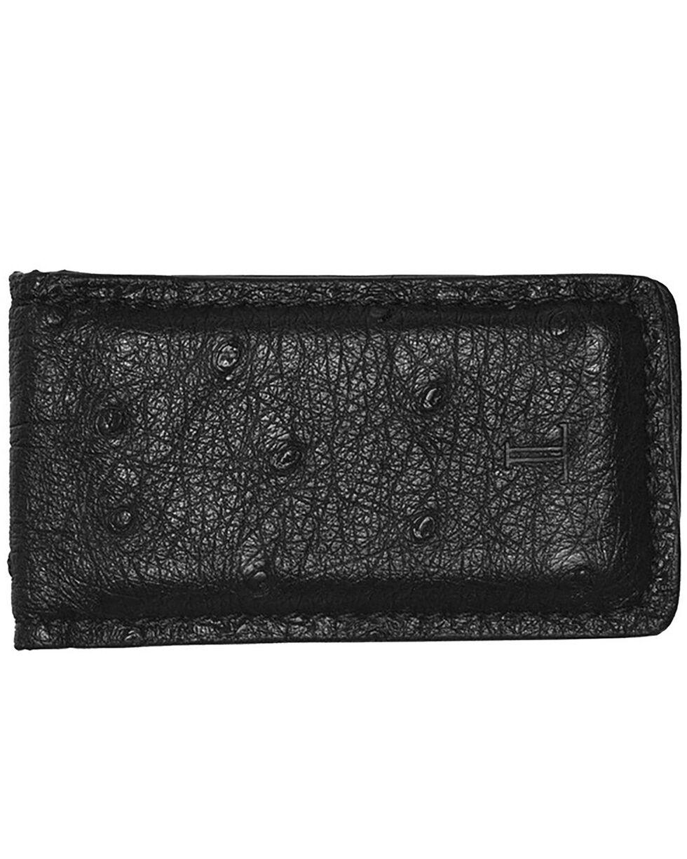 Lucchese Men's Black Ostrich Magnetic Money Clip , Black, hi-res