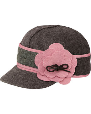 Stormy Kromer Women's Charcoal & Pink Petal Pusher Cap, Multi, hi-res