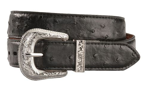 Exclusive Gibson Trading Co. Reversible Ostrich Print Belt, Black, hi-res