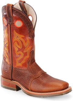 Double H Men's Roper Buckaroo Western Boots - Square Toe, Brown, hi-res