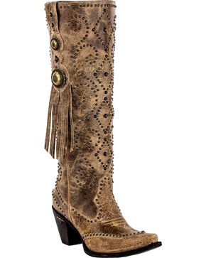 Lane Women's Conchita Western Boots - Snip Toe , Tan, hi-res